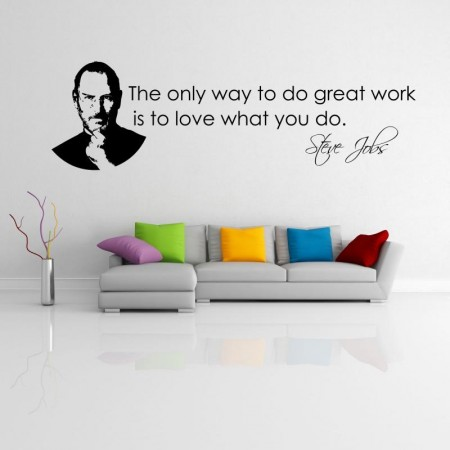 vinyl wall sticker with Steve Jobs quote
