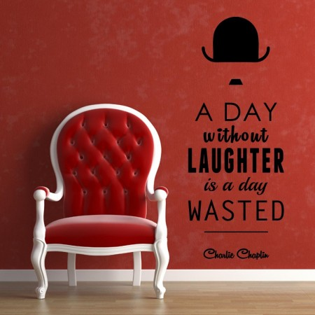wall art decoration with charlie chaplin quotes