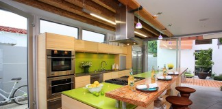 Colorful and stylish kitchen
