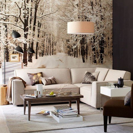 Winter-inspired interior