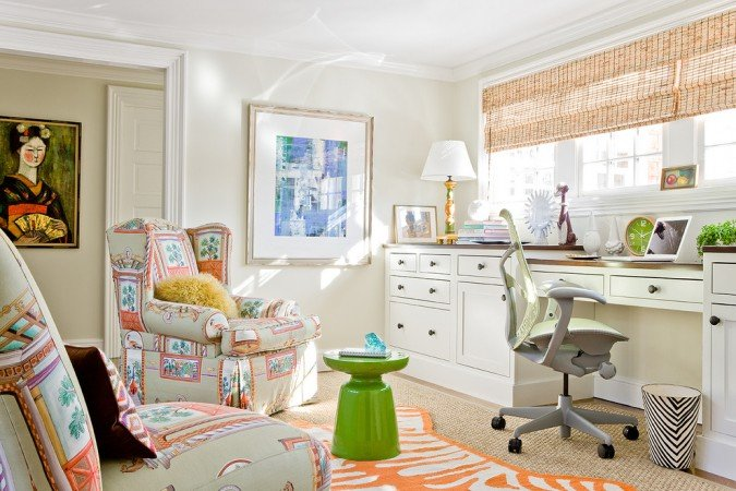 Light-filled stylish home office