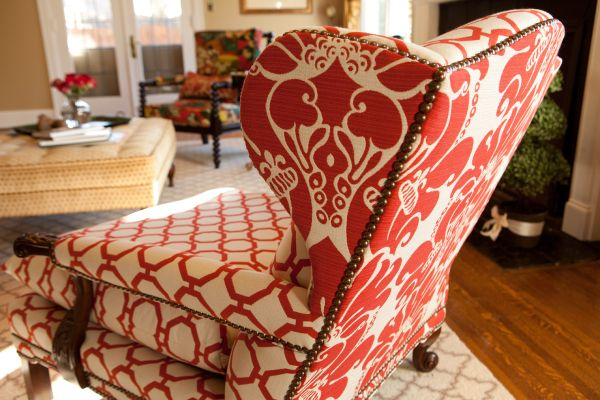 Mix patterns on the same chair for a custom look