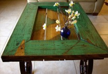 Charming table from repurposed door