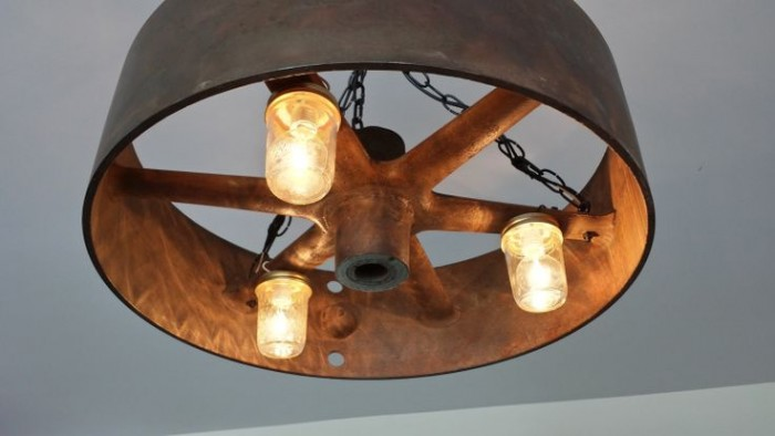 Cast Iron Flywheel Repurposed As A Lighting Fixture Pictures