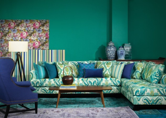 Energize your room with vibrant patterned upholstery