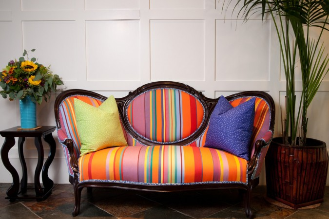 A classic sofa gets a fabric update