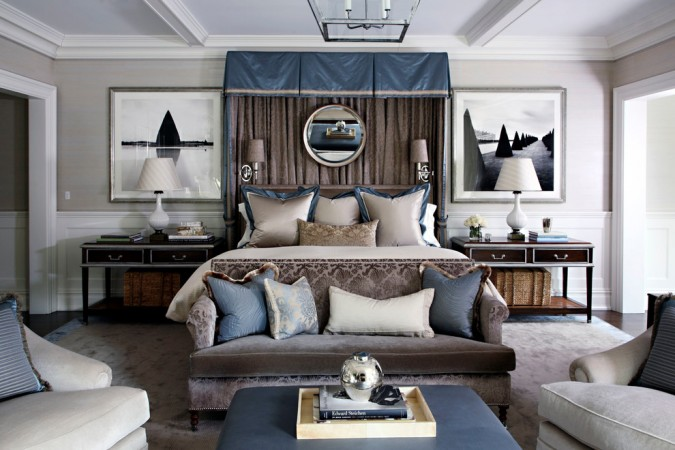 Lavish style makes this bedroom special