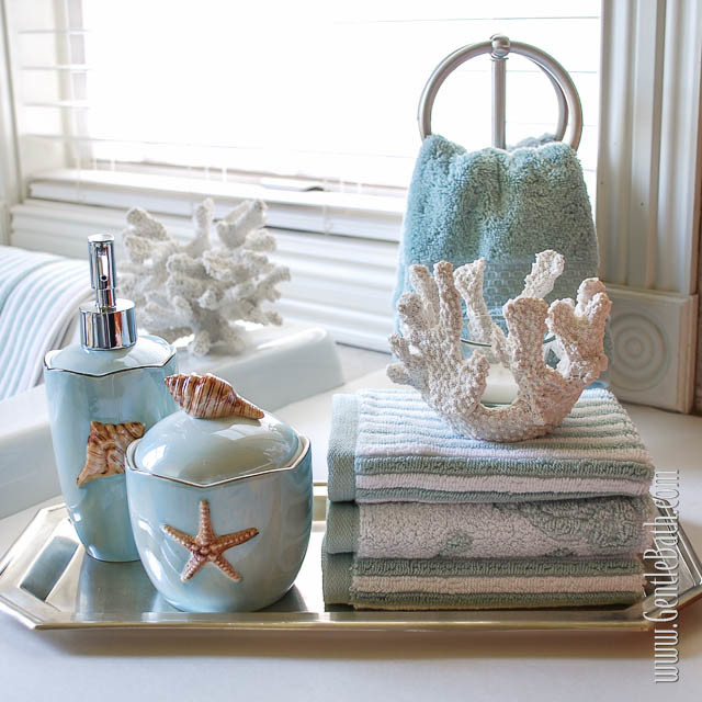 Precious sea-themed toiletry tray (thegentlebath&co).