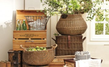 Baskets are a versatile decorative and storage solution