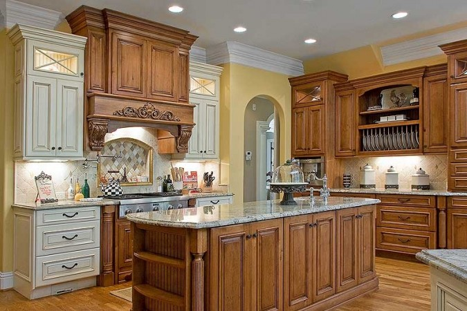 Mixed Cabinet Finishes In The Kitchen