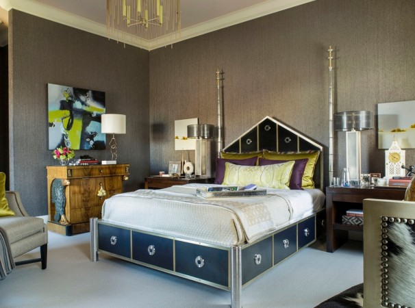 Unique furnishings gives this bedroom a fresh modern look