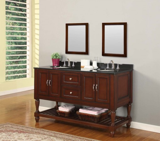 Furniture-inspired traditional bathroom vanity