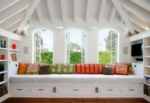 An inviting window seat