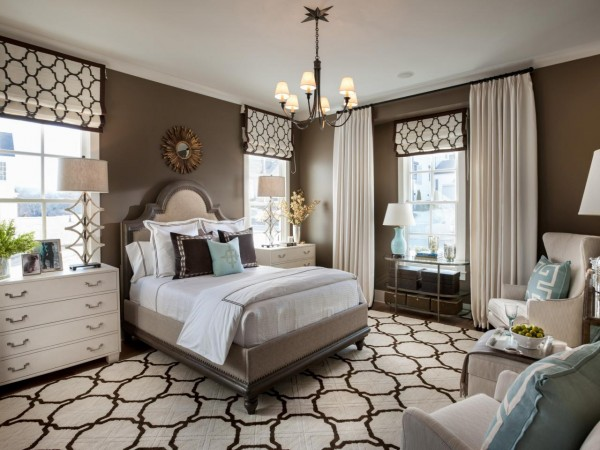 This bedroom style is clear and distinct