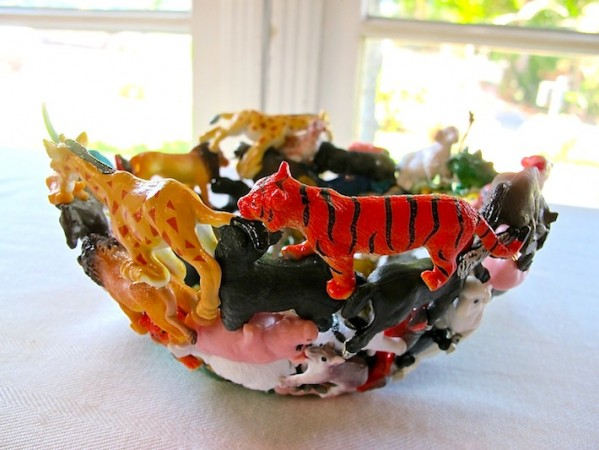Bowl made from old toys