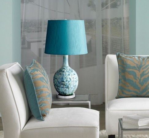 A beautiful lamp can update a living room