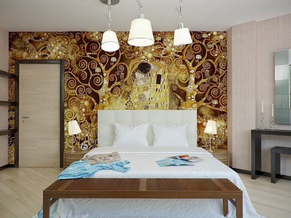 Art takes center stage in this bedroom design