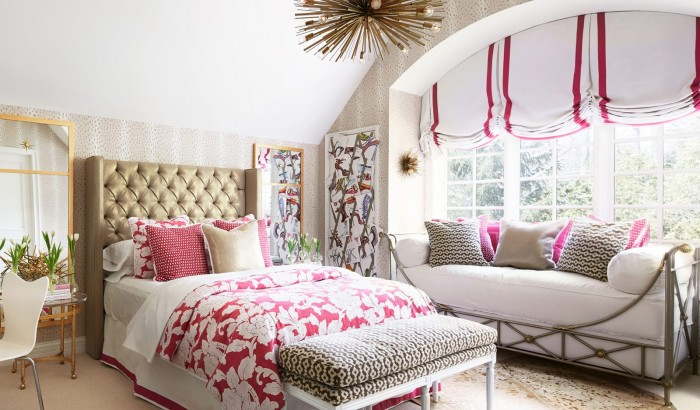Beautiful bedroom designed by Megan Winters