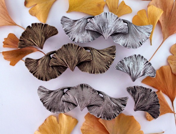Gingko leaf furniture hardware by Notting Hill Decorative Hardware