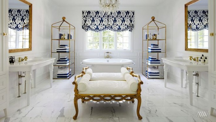Lovely bathroom designed by Megan Winters