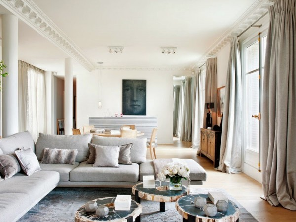 Neutral Paris apartment