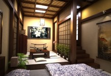 Gorgeous Japanese interior (cgtrader)