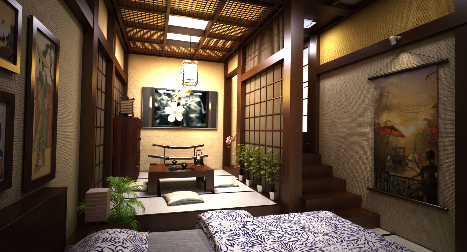 interior design in homes around the world gorgeous japanese interior cgtrader