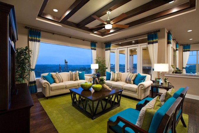 Lively waterfront interior