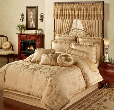Corsica Gold Comforter Bedding (touchofclass)
