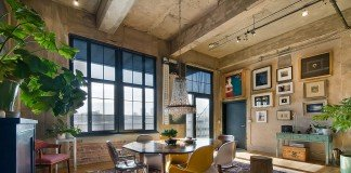 Industrial loft interior