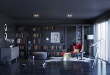 Dark and moody interior design