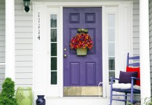 Gorgeous purple front door (mijarespropertiesflorida)