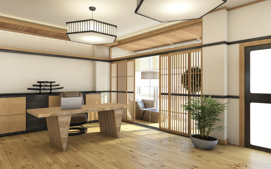 Interior design in homes around the world for Japanese office interior design