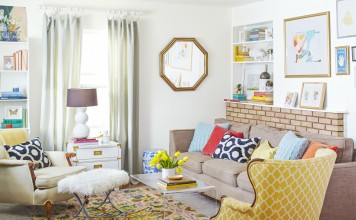 Light and fresh interior for spring