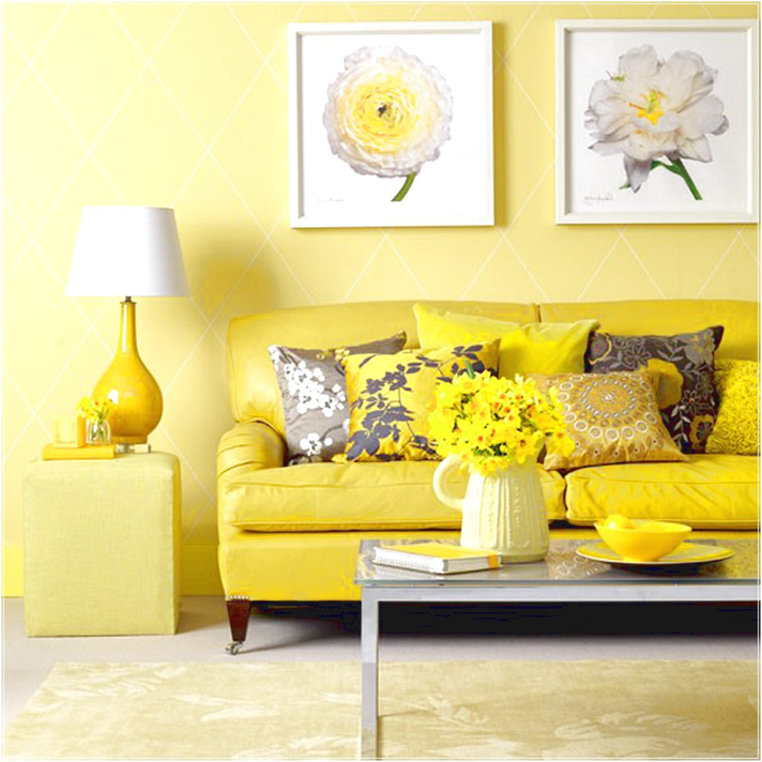 Cheerful and bright interior design using shades of yellow for Decorate pictures