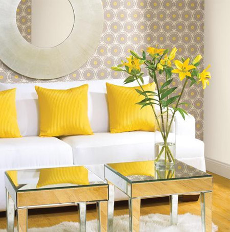 Wonderful Yellow Interior (styledhaven)