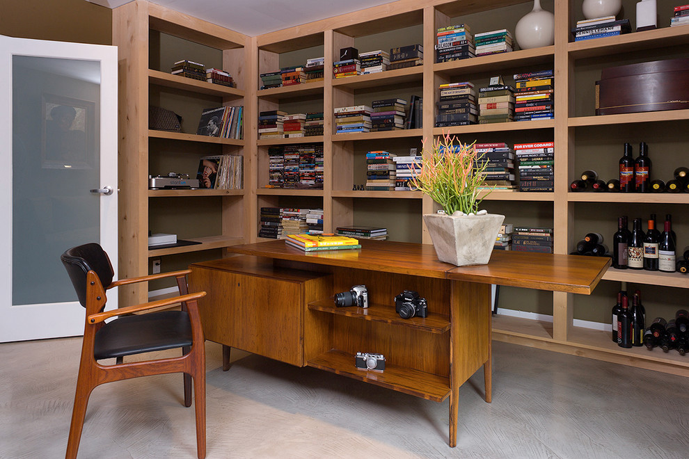The mid century modern home office for Modern house office