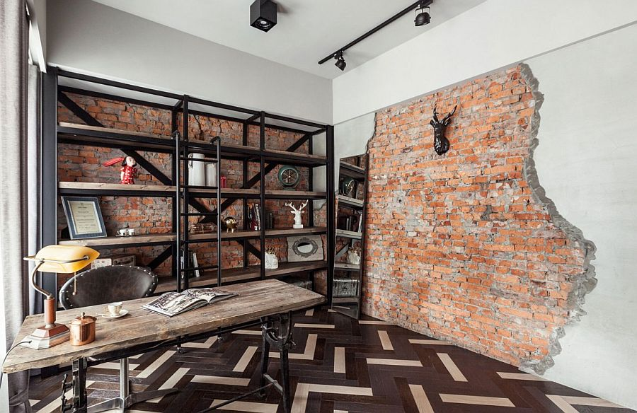 The industrial style home office - Vintage industrial interior design ...