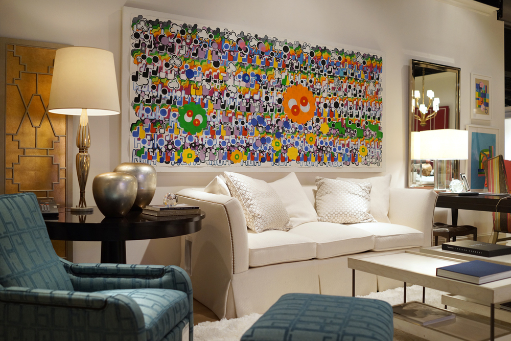 Using abstract art in your home for Large painting for living room