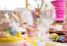 Fresh and festive Easter tablescape