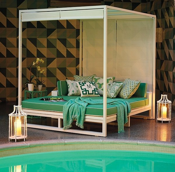 Outdoor daybeds for the ultimate backyard relaxation for Decoration patio exterieur