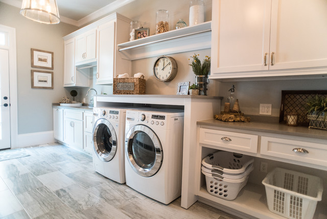 Stylish and organized laundry room