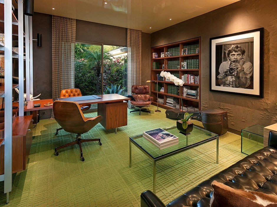 Home office designers Pinterest Inkbot Design The Midcentury Modern Home Office