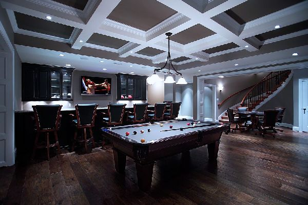 Highly stylish game room