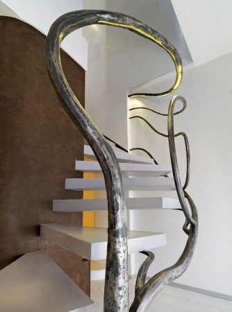 Unique sculptural staircase