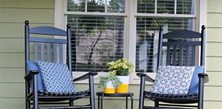 Rocking chairs on the front porch