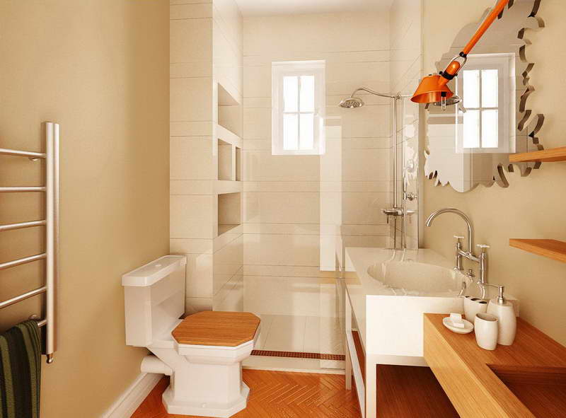 Small Bathroom Design Ideas On A Budget With Wooden Flooring