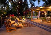 Backyard living area