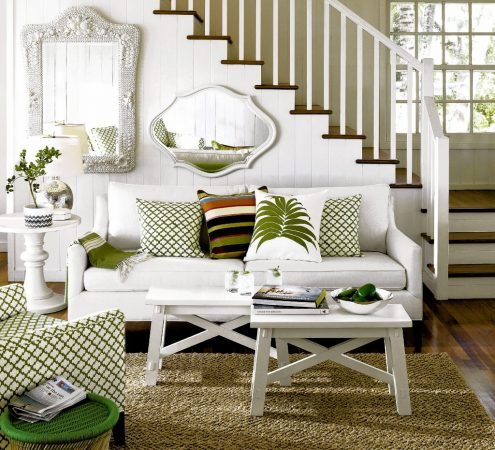 Add tropical accents for a summery feel