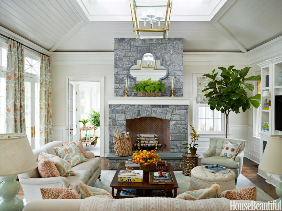The design anatomy of the family room Family room design ideas with fireplace